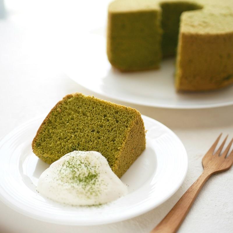 【低糖質レシピ】抹茶のシフォンケーキ