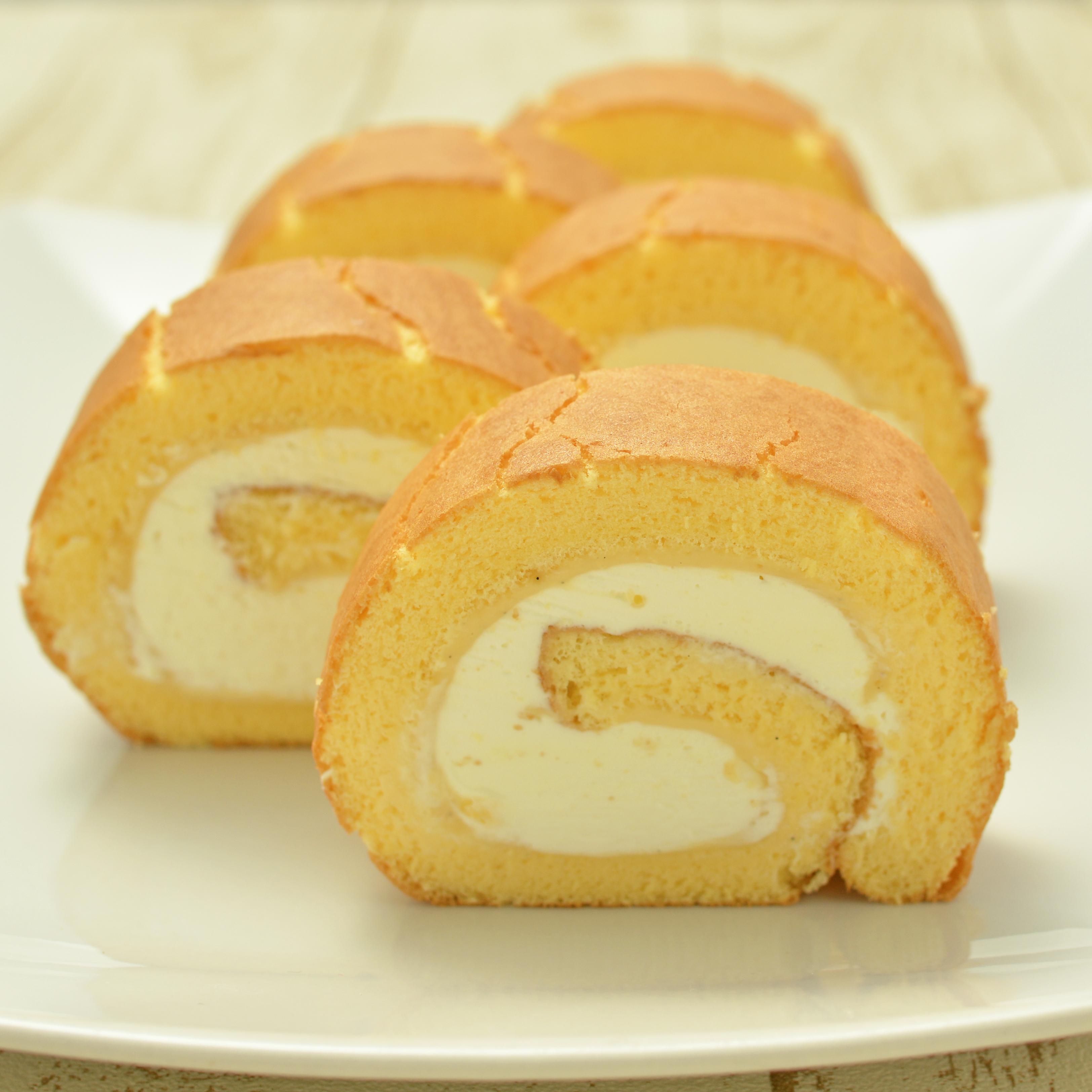 ミズホチカラのロールケーキ