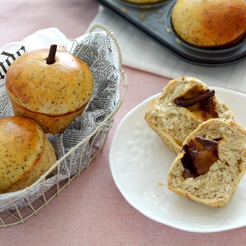 紅茶とりんごのパン