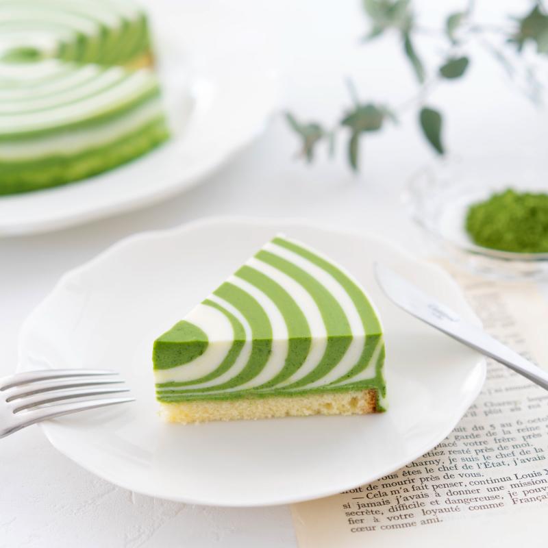 抹茶のレアチーズケーキ
