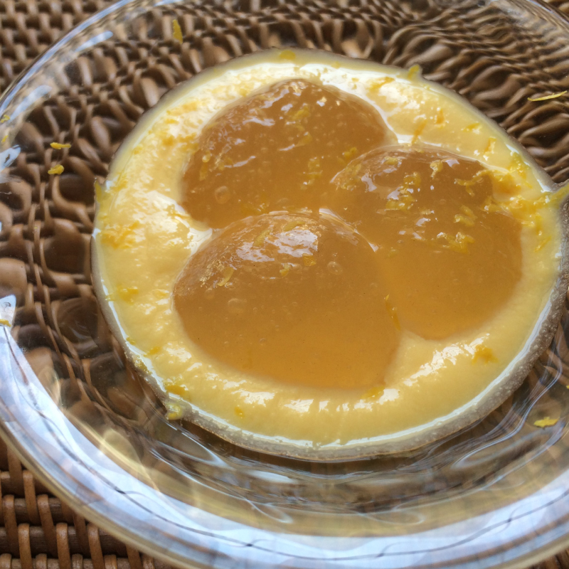 レモンわらびもちのカスタードソース