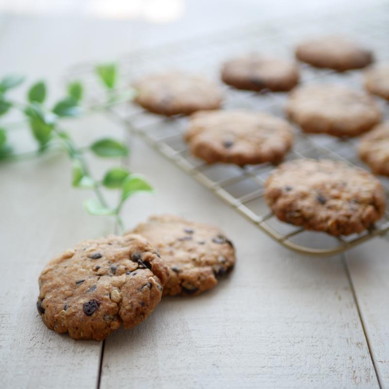 【低糖質レシピ】オートミールチョコチップクッキー