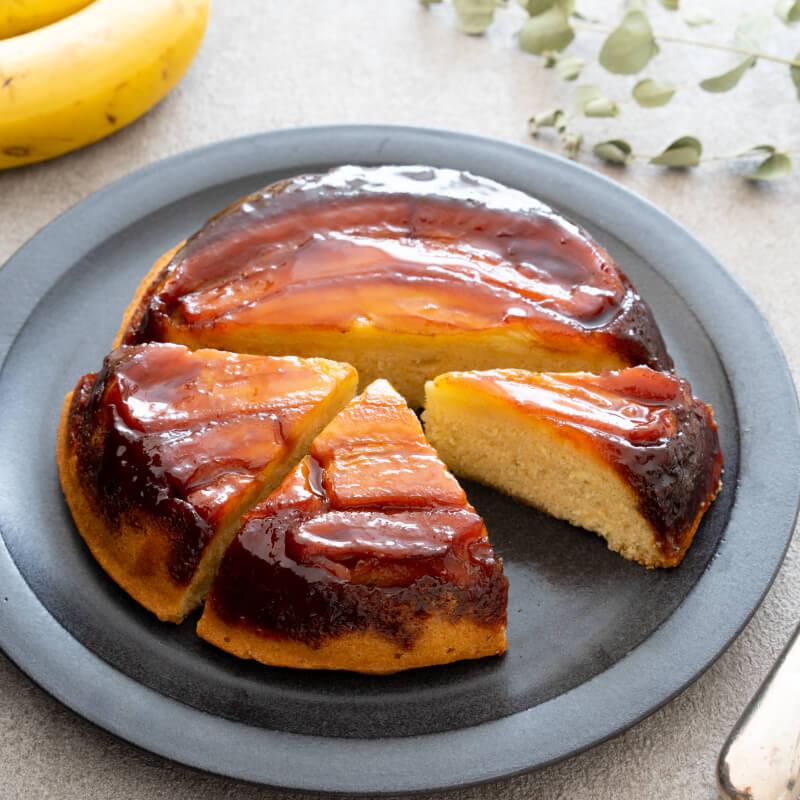 カラメルバナナのアップサイドダウンケーキ