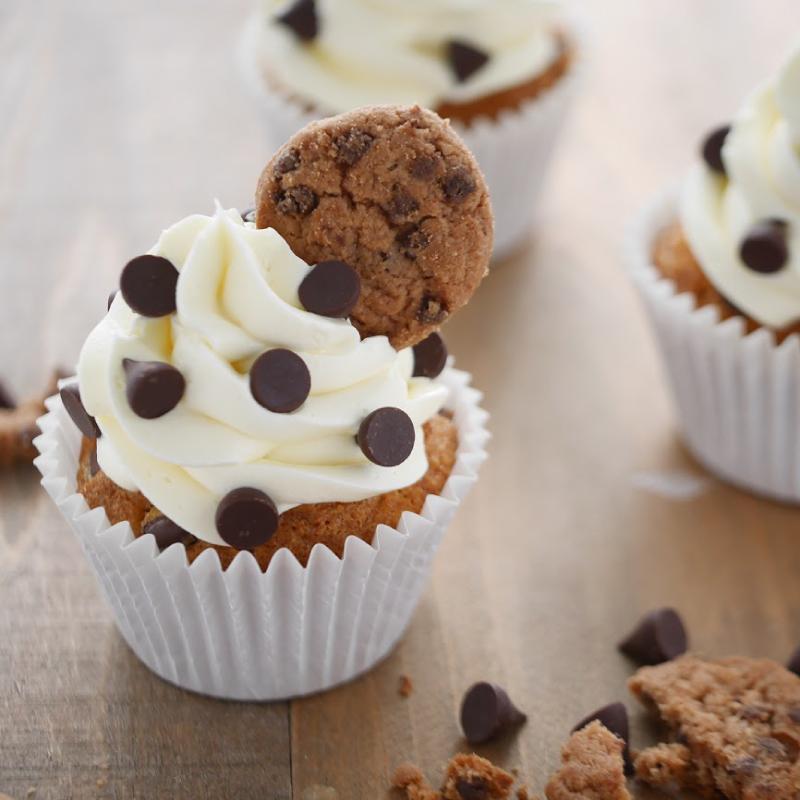 チョコチップクッキーカップケーキ
