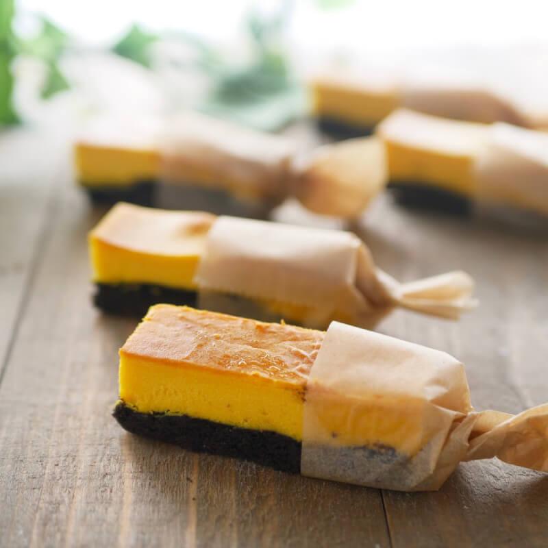 【低糖質レシピ】ブラックココアタルトとスティックかぼちゃチー...