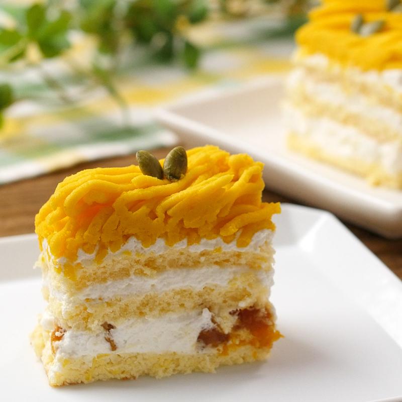 かぼちゃのモンブランケーキ