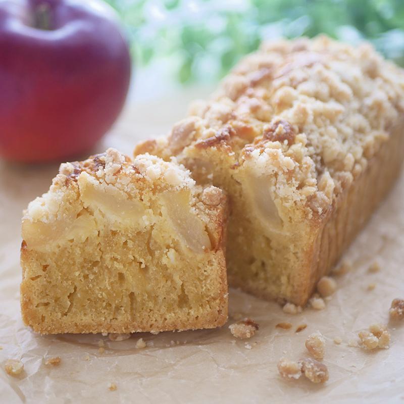【低糖質レシピ】林檎のクランブルケーキ
