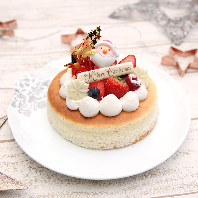 スフレチーズケーキ クリスマス