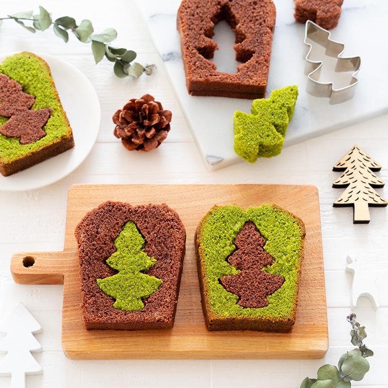 クリスマスツリーのパウンドケーキ
