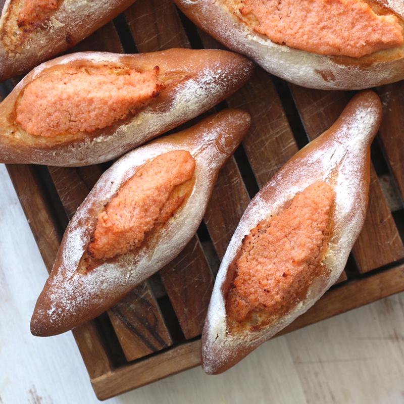 基本の明太子パン