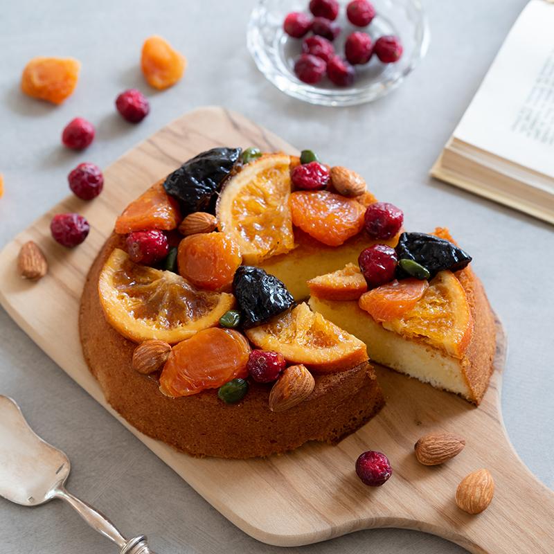 フルーツたっぷりブランデーケーキ