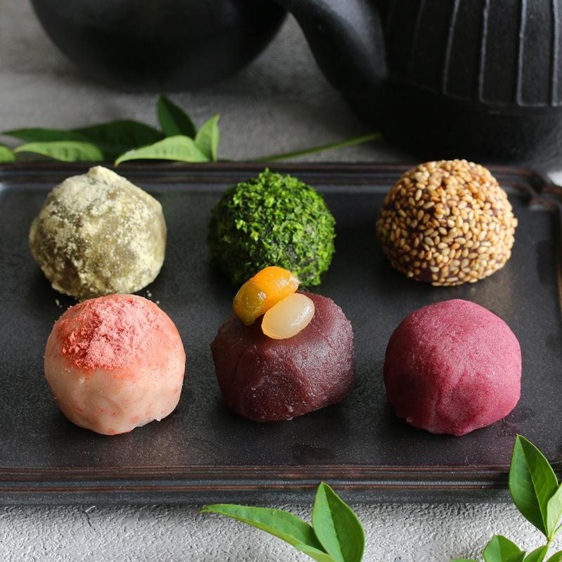 道明寺粉で作る、かわりおはぎ