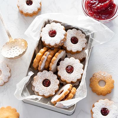 甘酸っぱい♪ラズベリージャムのクッキー