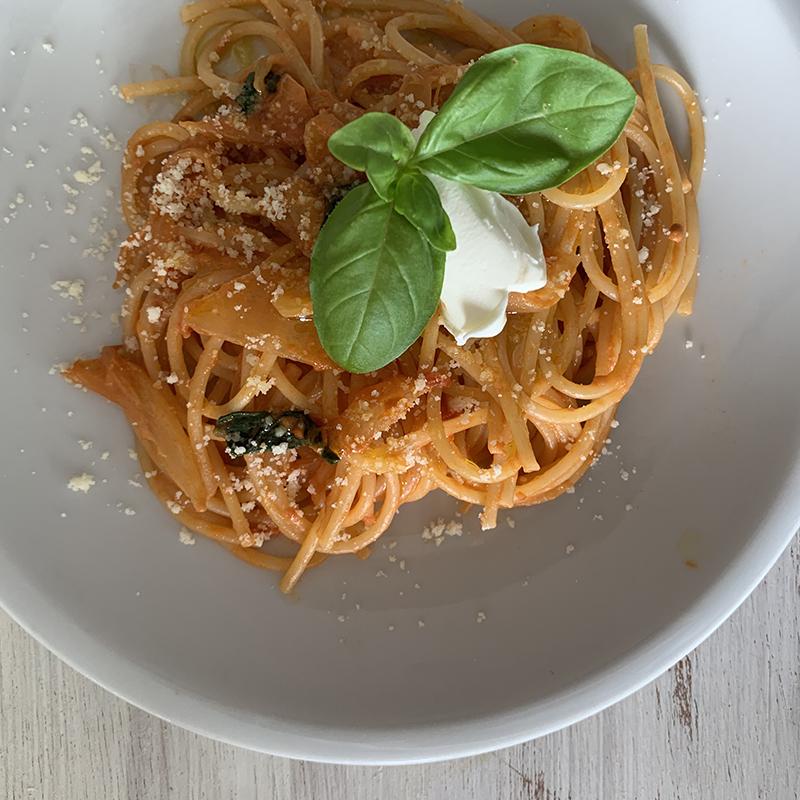 マスカルポーネのトマトスパゲッティ