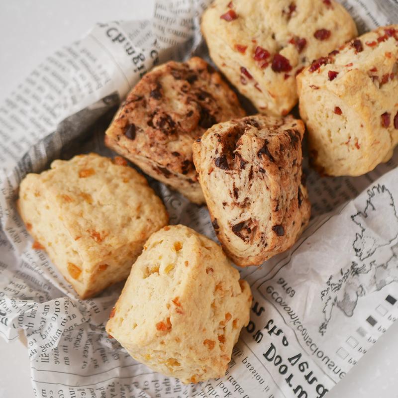 【卵、乳製品、白砂糖不使用】基本のスコーン 3種類のパターン