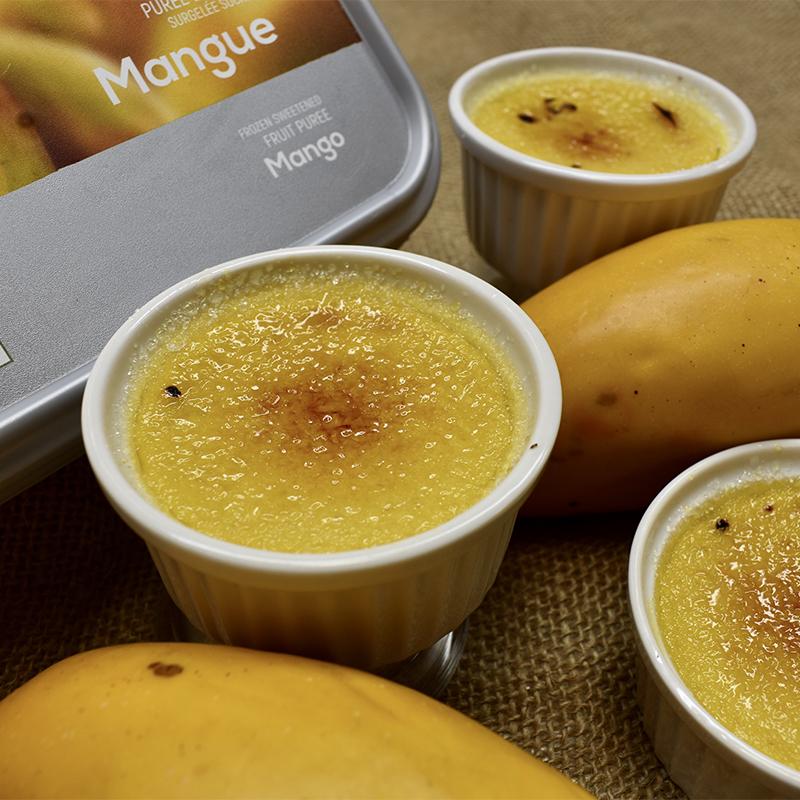 マンゴーの濃厚クレームブリュレ