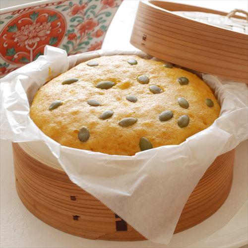かぼちゃのマーラーカオ(中華蒸しパン)