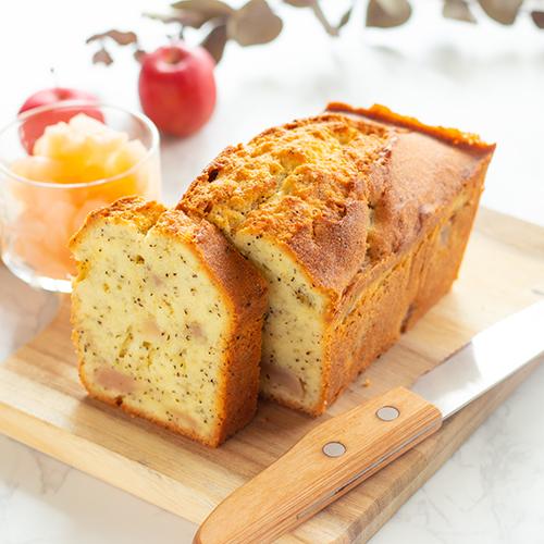 しっとり♪りんごとアールグレイのパウンドケーキ