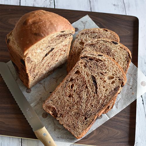 【HBレシピ】ポリフェノールたっぷり!大人のチョコ食パン