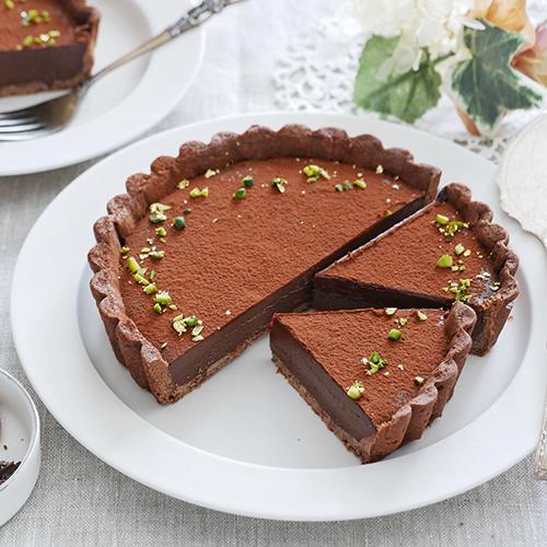 プラリネの濃厚生チョコタルト
