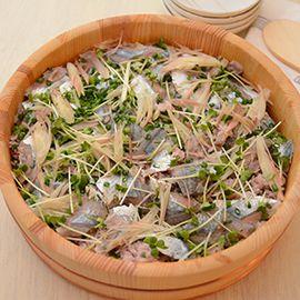秋刀魚の雑穀ちらし寿司